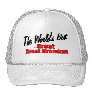 The World's Best Great Great Grandma Trucker Hats