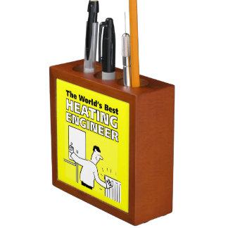 The World's Best Heating Engineer Desk Organiser