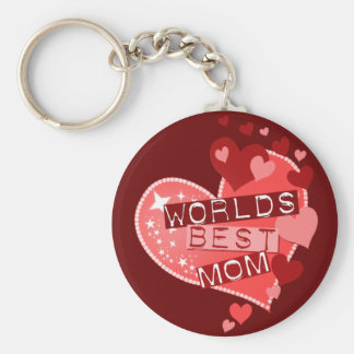The World's Best Mom Basic Round Button Key Ring