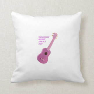 The Worlds Biggest Ukelele Fan Cusion Throw Cushion