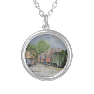 The World's first railway Silver Plated Necklace