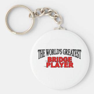 The World's Greatest Bridge Player Key Ring
