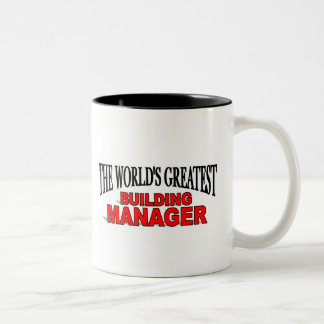 The World's Greatest Building Manager Two-Tone Mug
