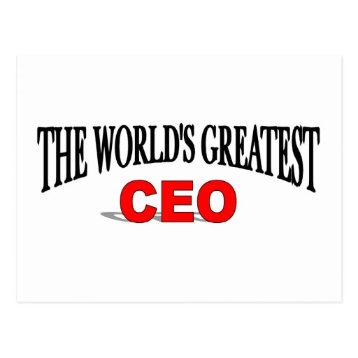 The World's Greatest CEO Post Card