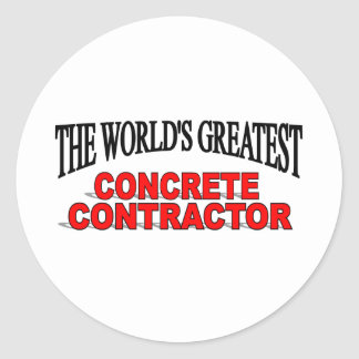 The World's Greatest Concrete Contractor Classic Round Sticker