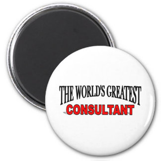 The World's Greatest Consultant 6 Cm Round Magnet