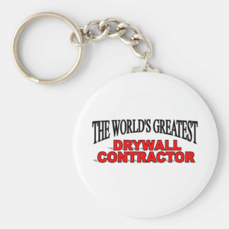 The World's Greatest Drywall Contractor Keychains