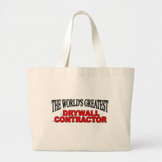 The World's Greatest Drywall Contractor Jumbo Tote Bag