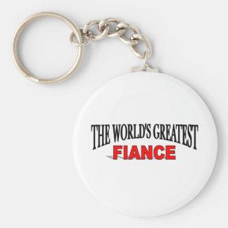 The World's Greatest Fiance Keychain