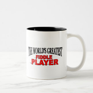 The World's Greatest Fiddle Player Two-Tone Coffee Mug