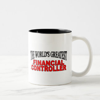 The World's Greatest Financial Controller Two-Tone Coffee Mug