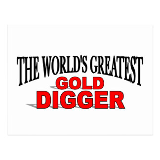 The World's Greatest Gold Digger Postcard