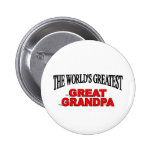 The World's Greatest Great Grandpa Buttons