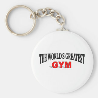 The World's Greatest Gym Basic Round Button Key Ring