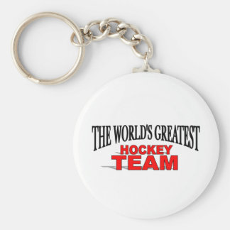 The World's Greatest Hockey Team Basic Round Button Key Ring