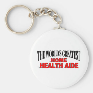 The World's Greatest Home Health Aide Key Ring