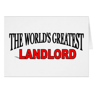 The World's Greatest Landlord Card