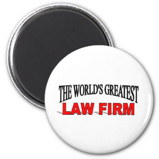 The World's Greatest Law Firm 6 Cm Round Magnet