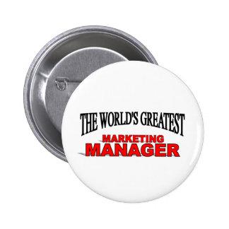 The World's Greatest Marketing Manager 6 Cm Round Badge