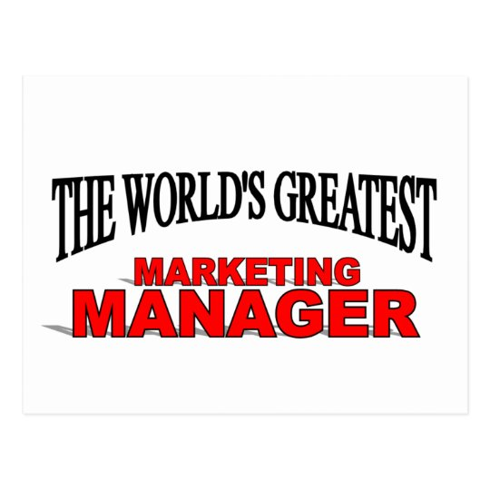 The World's Greatest Marketing Manager Postcard