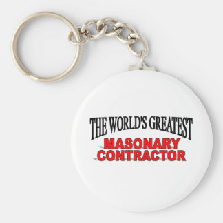 The World's Greatest Masonary Contractor Basic Round Button Key Ring