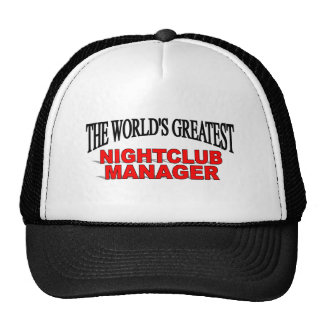 The World's Greatest Nightclub Manager Mesh Hat