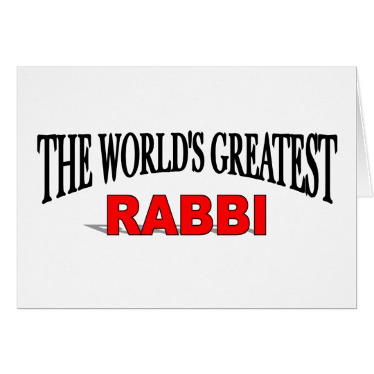 The World's Greatest Rabbi Card