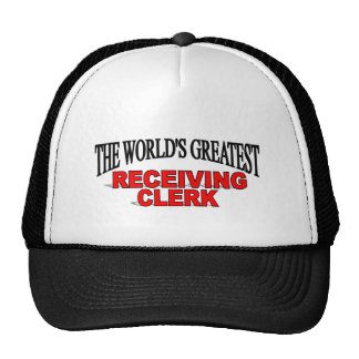 The World's Greatest Receiving Clerk Hat