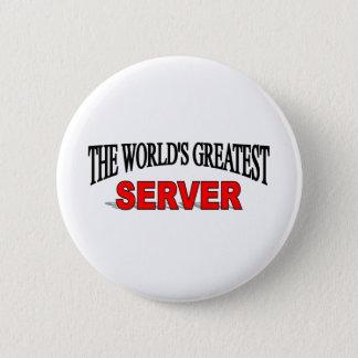 The World's Greatest Server 6 Cm Round Badge
