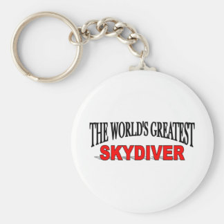 The World's Greatest Skydiver Basic Round Button Key Ring