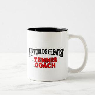 The World's Greatest Tennis Coach Two-Tone Mug