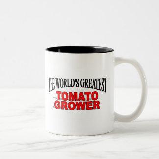 The World's Greatest Tomato Grower Two-Tone Coffee Mug