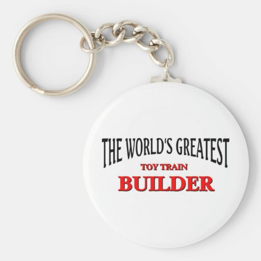 The world's greatest toy train builder key chain