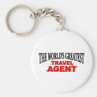 The World's Greatest Travel Agent Basic Round Button Key Ring