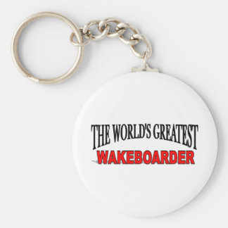 The World's Greatest Wakeboarder Basic Round Button Key Ring