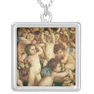 The Worship of Venus, 1519 Square Pendant Necklace