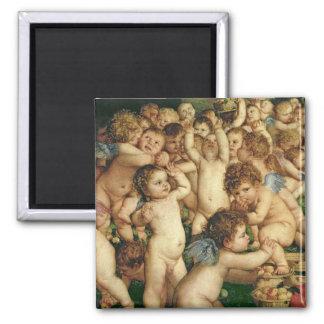 The Worship of Venus, 1519 Square Magnet