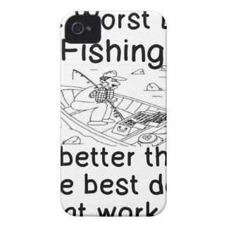 THE WORST DAY FISHING - BETTER THAN WORK iPhone 4 COVER