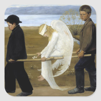 The Wounded Angel Square Sticker