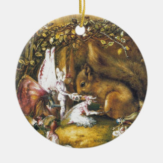 The Wounded Squirrel Ceramic Ornament