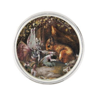The Wounded Squirrel Lapel Pin