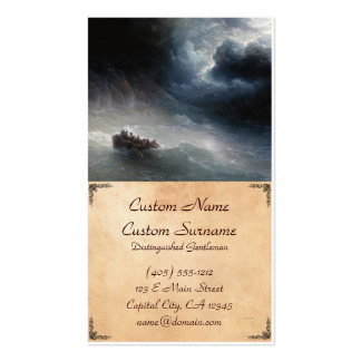 The Wrath of the Seas Ivan Aivazovsky seascape Pack Of Standard Business Cards