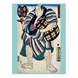 The wrestler Arakuma by Utagawa,Toyokuni Postcard