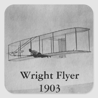 The Wright Flyer Square Sticker