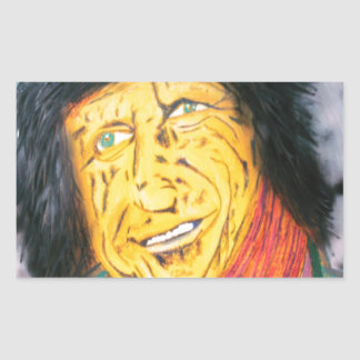 The Wrinkly Rocker Rectangular Sticker