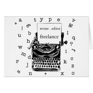 The Writer. Cute Retro Vintage Old  Typewriter Card