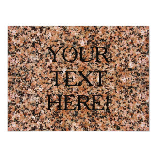 THE WRITING IS ON THE GRANITE WALL! 17 CM X 22 CM INVITATION CARD