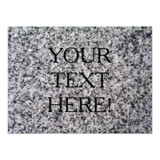 THE WRITING IS ON THE WALL SO TAKE IT FOR GRANITE! 17 CM X 22 CM INVITATION CARD
