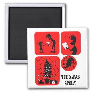 The Xmas spirit Fridge Magnet