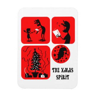 The Xmas spirit Vinyl Magnet